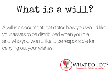What is a will? What do I do?