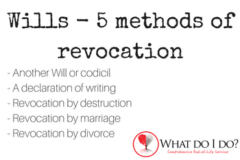 5 Methods of Revocation of a Will