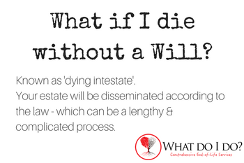 What do I do if I die without a Will?