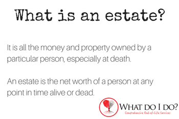 What is an estate? What do I do?